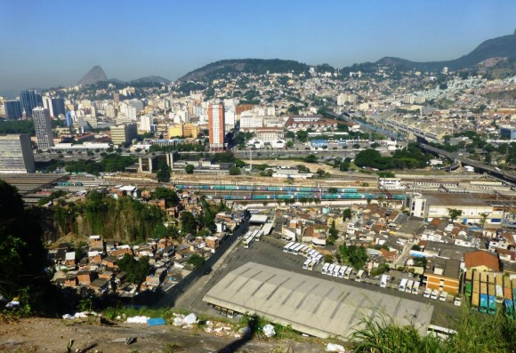 View over the central train station from Morro da Providencia