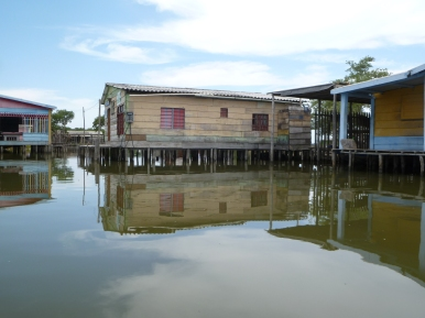 Stilt houses in the Ciénaga Grande de Santa Marta