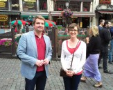 Our Researching Security Fellows on a little sightseeing trip to the historic centre of Brussels